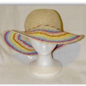 Xhilaration Summer Beach Floppy Straw Hat